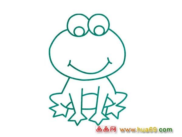 水生动物简笔画:青蛙1