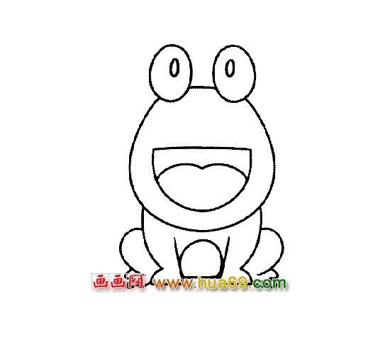青蛙与荷叶简笔画图片