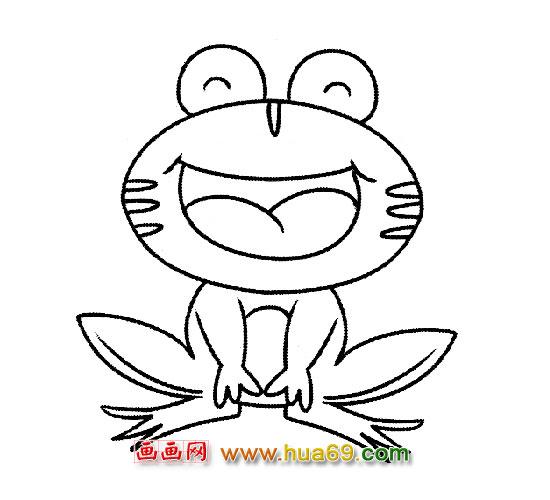 可爱的青蛙(简笔画)1,画画网
