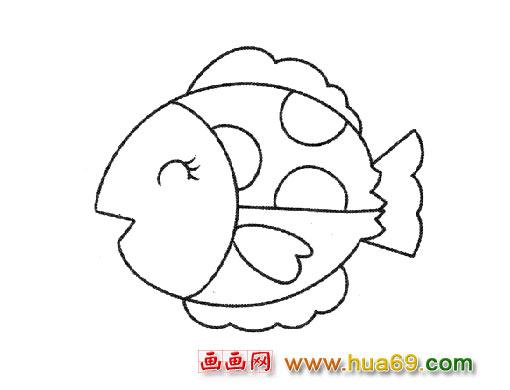休息的小鱼 简笔画图片