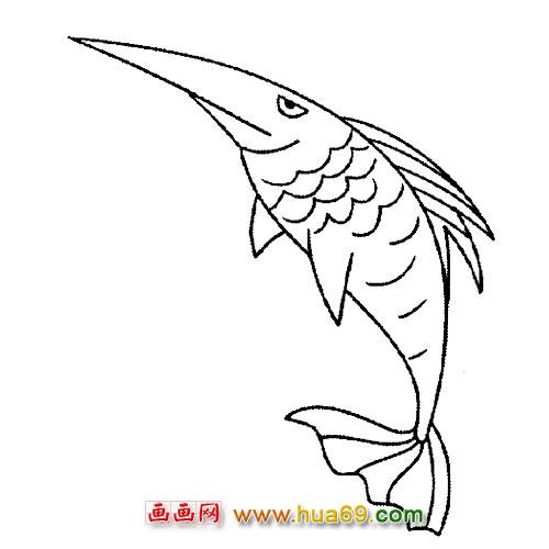 鱼骨架矢量图