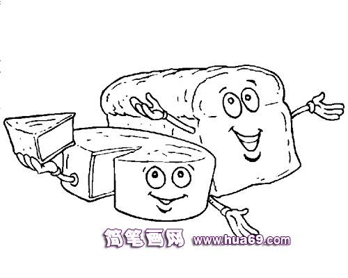 面包简笔画 面包简笔画图片大全 面包简笔画大图