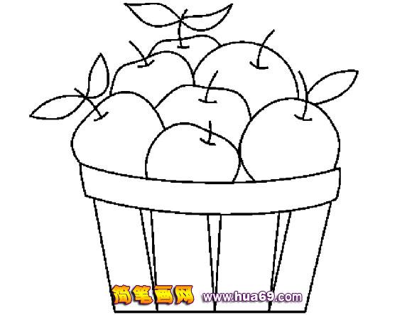 苹果简笔画7,画画网