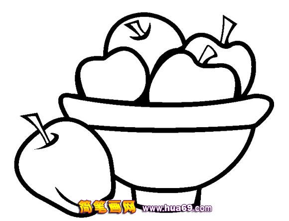 水果简笔画 苹果13