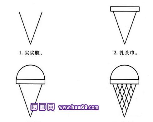 冰淇淋简笔画1,画画网