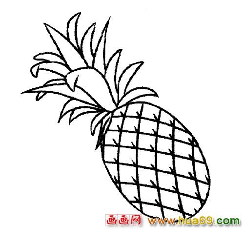 瓶花与水果简笔画 超萌水果卡通简笔画 春天的水果简笔画