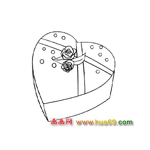 简笔画:蛋糕礼物盒