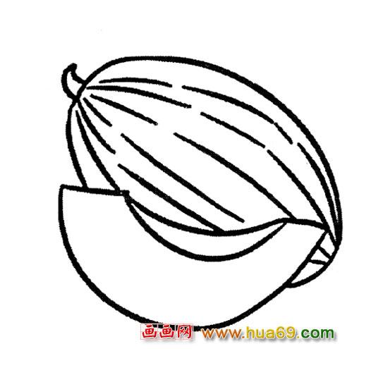 水果简笔画│哈密瓜1