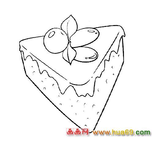 简笔画│好吃的蛋糕3