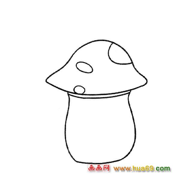 可口的大胖菇 简笔画
