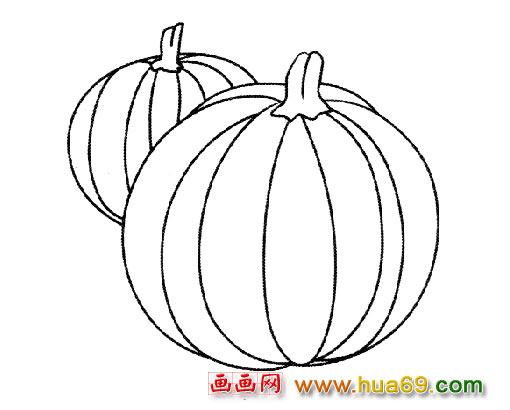 蔬菜简笔画 两个南瓜
